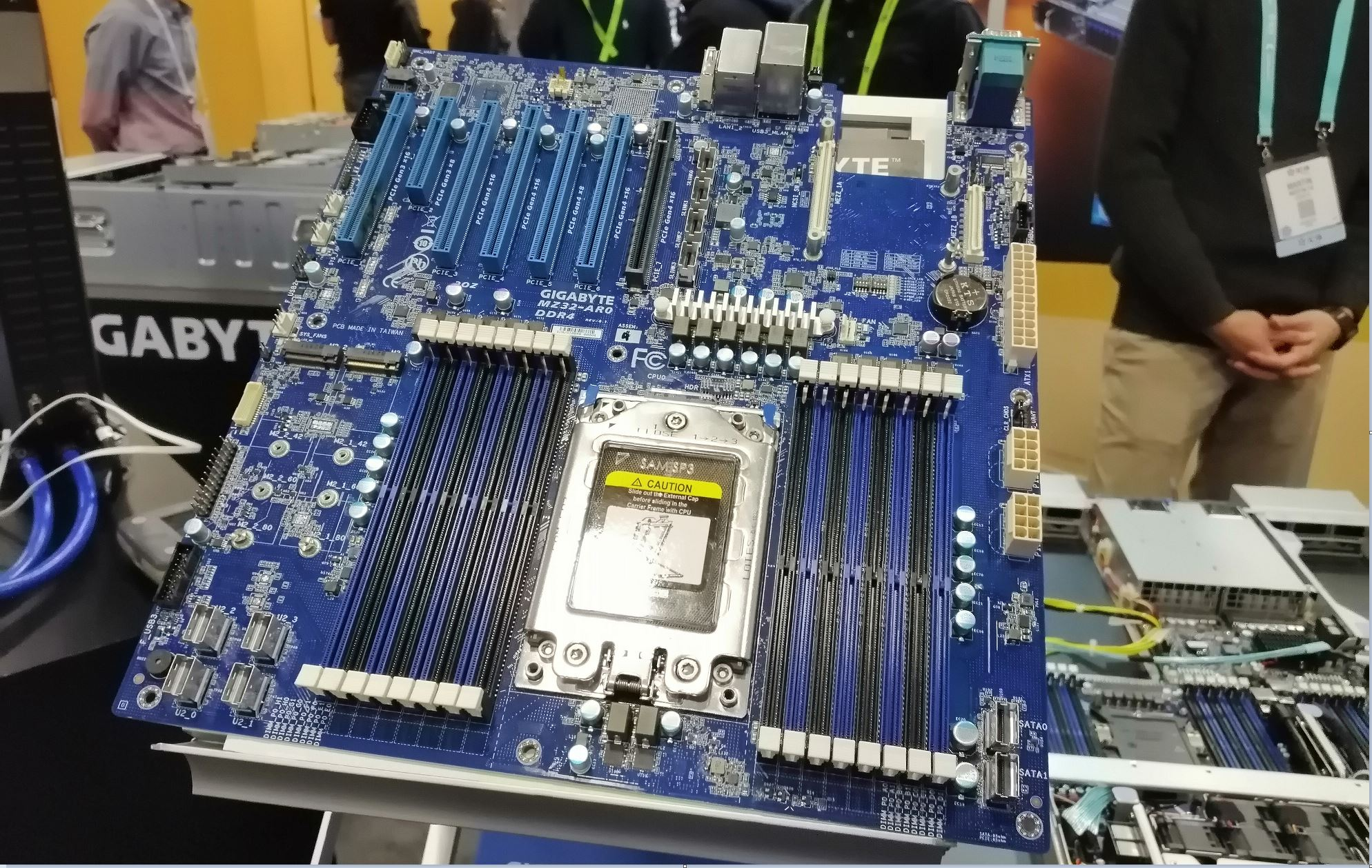 First Epyc Rome Motherboard Pcie 4 On Board Amd